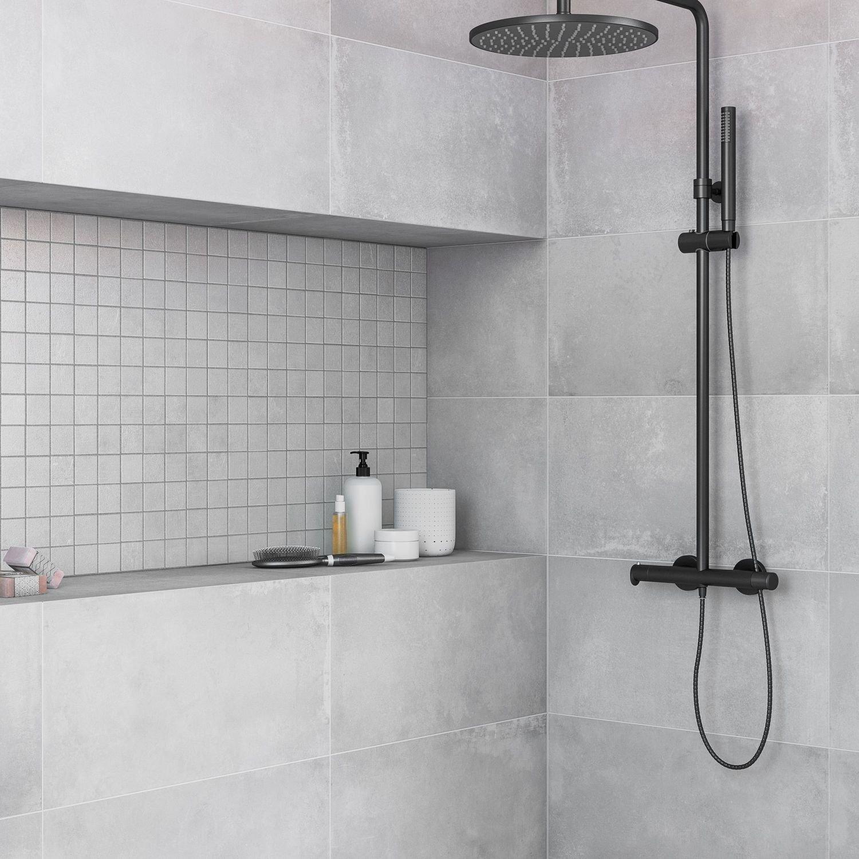Pierre Naturelle Salle De Bain de la modernité à la salle de bain avec un carrelage effet