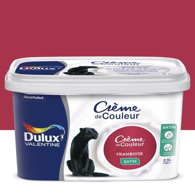 Peinture Framboise Satin Dulux Valentine Crème De Couleur 2 5 L