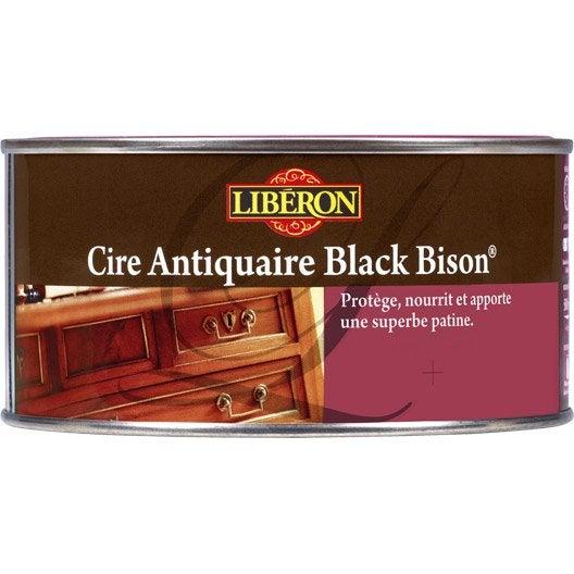 Cire en pâte meuble et objets Cire black bison LIBERON, 0.5 l, chêne moyen
