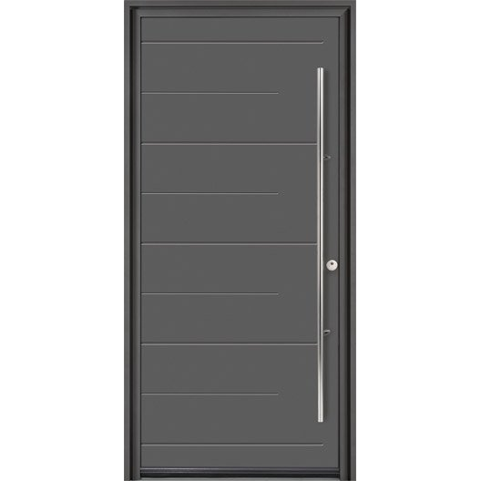 porte d 39 entr e sur mesure en aluminium soprano excellence leroy merlin. Black Bedroom Furniture Sets. Home Design Ideas