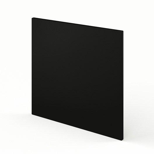 porte lave-vaisselle de cuisine noir délice, l.60 x h.55 cm
