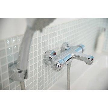 Mitigeur thermostatique de baignoire chromé, SENSEA Logico