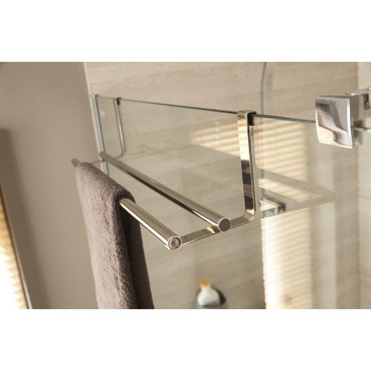 Porte serviettes acier 2 barres fixes hook leroy merlin - Porte serviette a suspendre ...