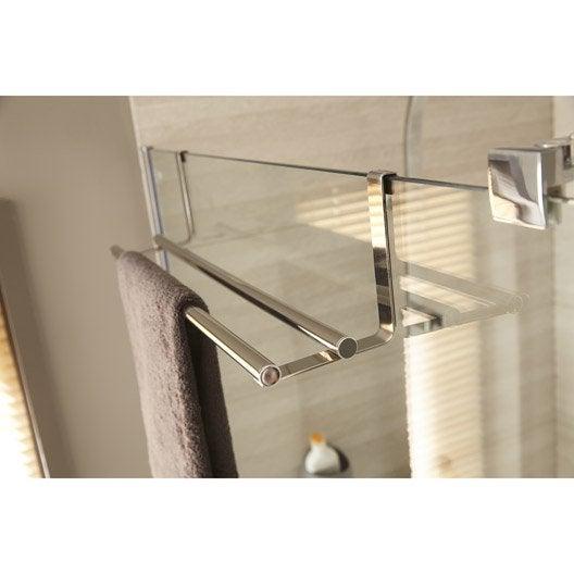 porte-serviettes acier 2 barres fixes hook | leroy merlin