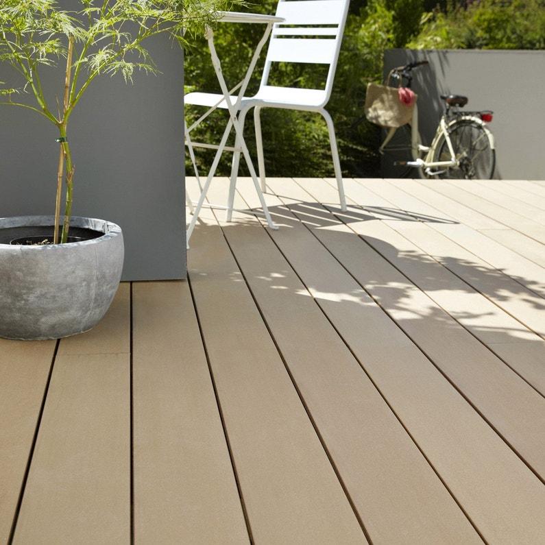 planche composite lisse brun clair x cm x ep. Black Bedroom Furniture Sets. Home Design Ideas