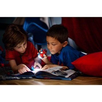 Eclairage à piles Spiderman, LED 1 x 0.3 W, LED intégrée blanc chaud