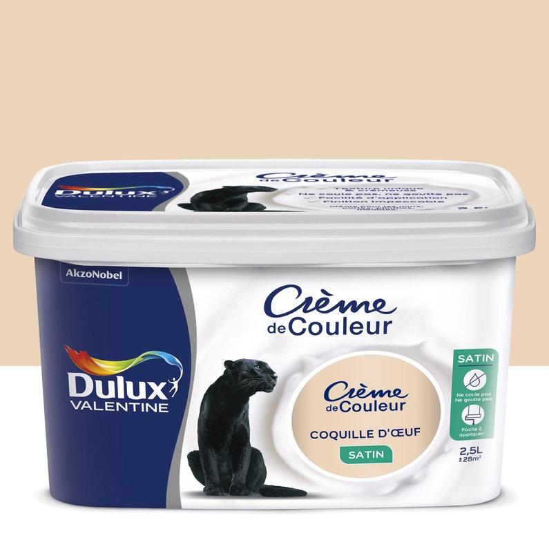 Peinture Coquille D œuf Satin Dulux Valentine Crème De Couleur 2 5 L