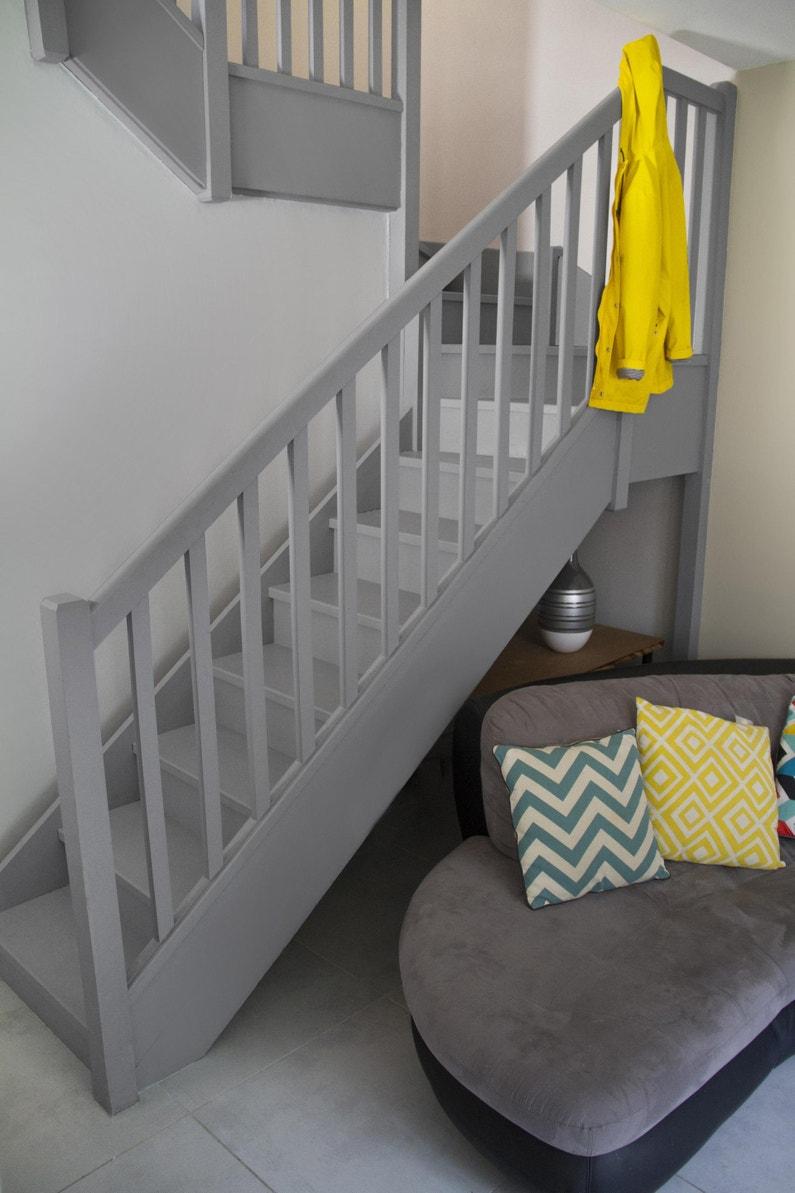Peindre Un Escalier En Gris peinture intérieur renov sol syntilor, gris clair, 2 l