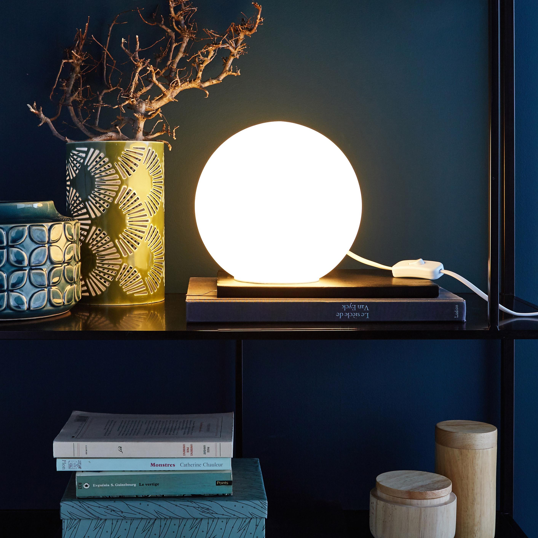 Lampe, moderne, verre blanc, INSPIRE Billy