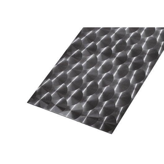t le lisse acier inoxydable brillant x cm x ep 0 8 mm leroy merlin. Black Bedroom Furniture Sets. Home Design Ideas