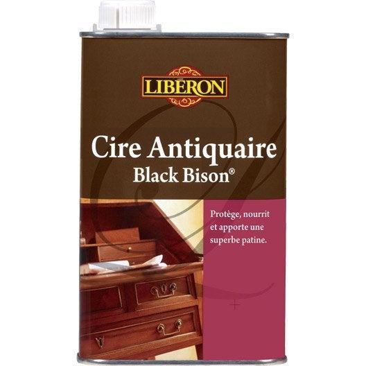 Cire liquide meuble et objets cire black bison liberon 0 - Cire pour meuble peint ...