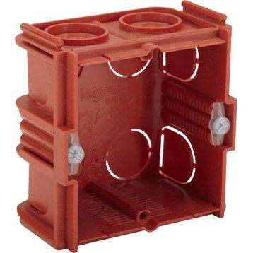 bo te d 39 encastrement boitier boite lectrique au meilleur prix leroy merlin. Black Bedroom Furniture Sets. Home Design Ideas