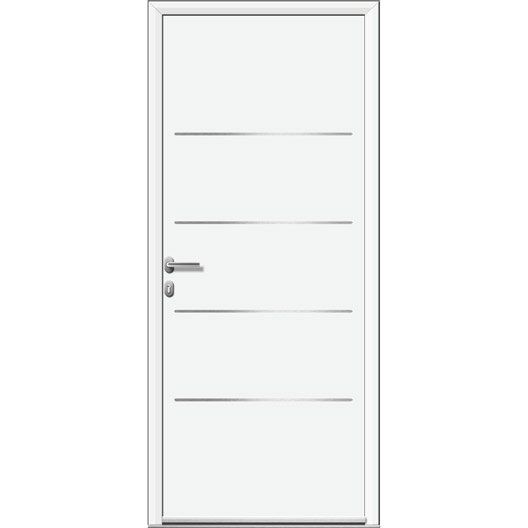 porte d 39 entr e sur mesure en aluminium lincoln artens leroy merlin. Black Bedroom Furniture Sets. Home Design Ideas