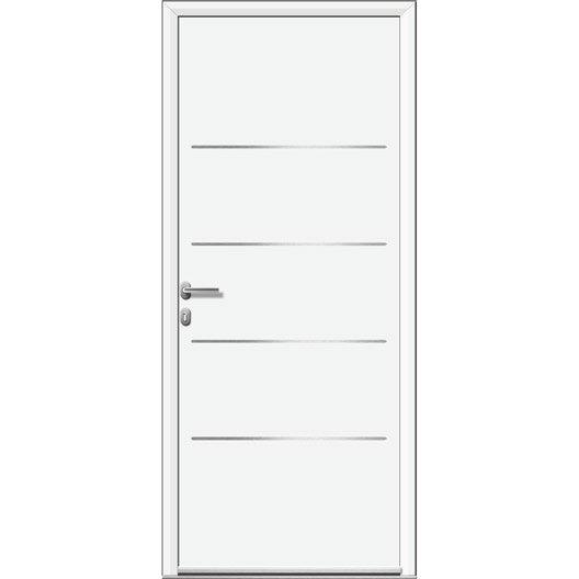 porte d 39 entr e sur mesure en aluminium lincoln artens leroy merlin. Black Bedroom Furniture Sets. Home Design Ideas