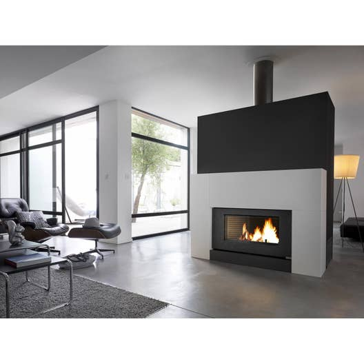 po le bois invicta chemin e onyx 6120 46 12 kw leroy merlin. Black Bedroom Furniture Sets. Home Design Ideas