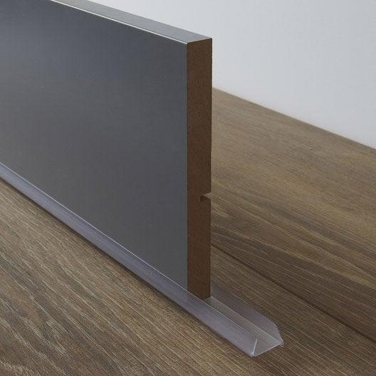 Bavette de plinthe de meuble de cuisine delinia leroy merlin Hauteur d un meuble bas de cuisine sans les pieds