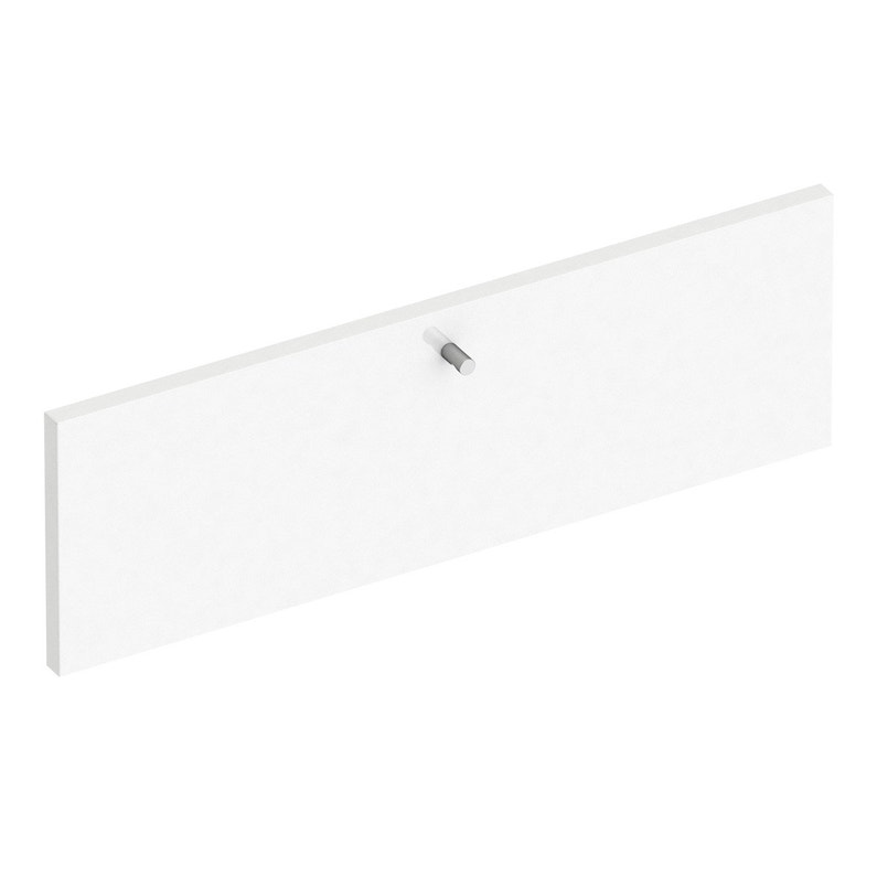Façade De Tiroir Blanc Brillant Spaceo Home 20 X 60 X 16 Cm