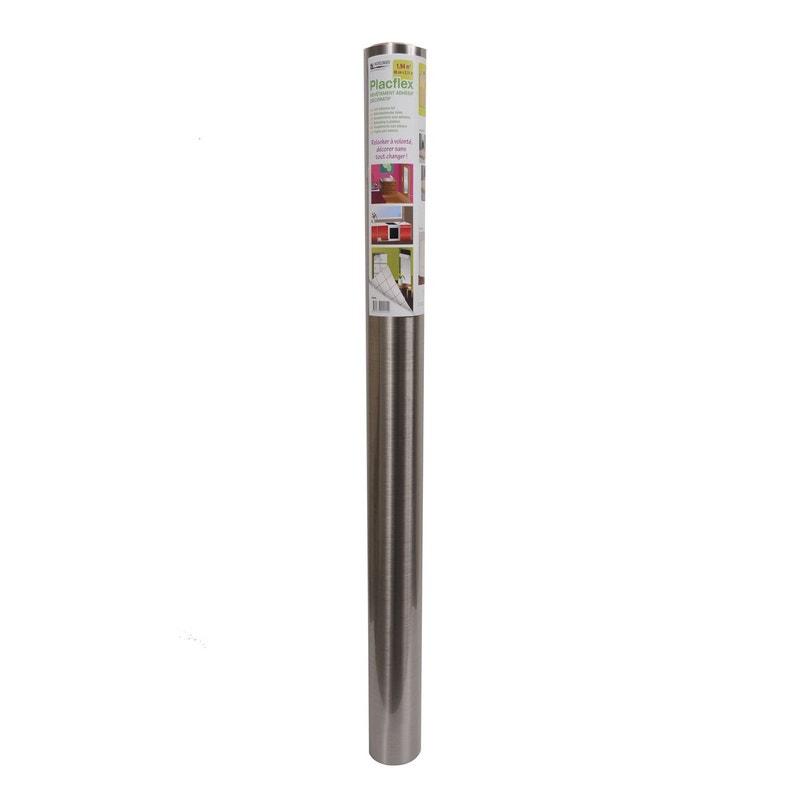 Feuille Mélamine Adhésive Inox L215 X L90 Cm