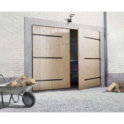 Porte de garage battante porte de garage bois leroy merlin for Porte de garage 4 vantaux leroy merlin