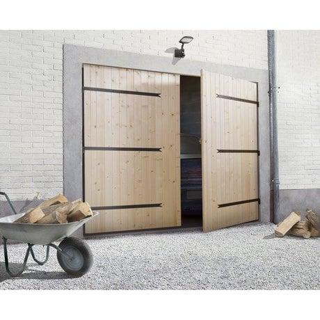 Porte de garage battante porte de garage bois leroy merlin - Porte de garage 4 vantaux leroy merlin ...