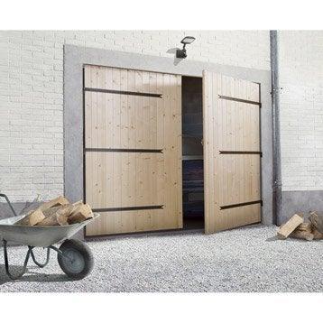 Porte de garage battante 2 vantaux manuelle PRIMO H.200 x l.240 cm