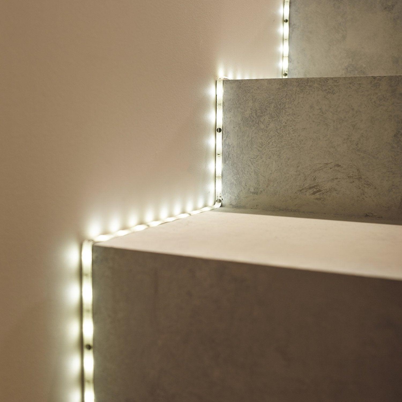 kit ruban led blanc lumi re du jour 6500k 825 lumens. Black Bedroom Furniture Sets. Home Design Ideas