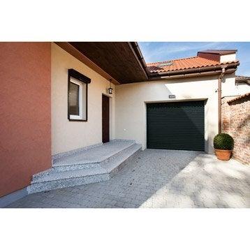 Porte de garage à enroulement motorisée ARTENS premium H.200 x l.240 cm