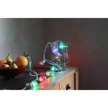 Guirlande extérieure LED intégrée 0.4 W = 210 Lm, multicolore