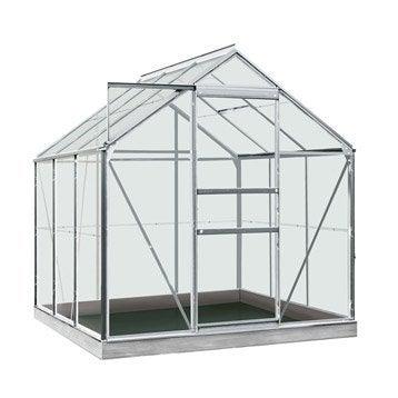 Serre de jardin en polycarbonate simple paroi Rainbow, 3.8 m²