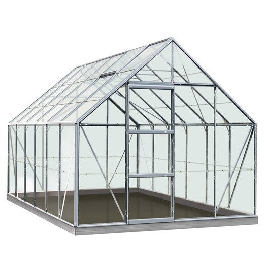 Serre de jardin mini serre verre horticole leroy merlin - Serre de jardin en verre ...