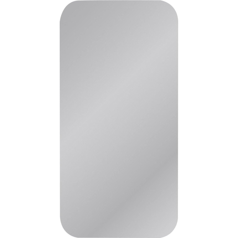 Miroir non lumineux découpé carré avec coins arrondis l.40 x L.80 cm Poli