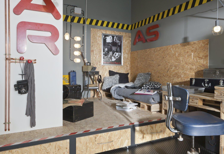 Une chambre d 39 ado de style industriel leroy merlin - Chambre style loft industriel ...