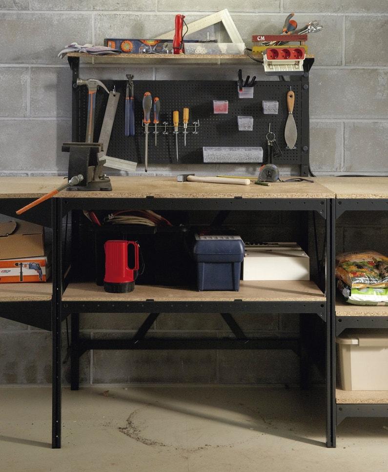 un tabli pour ranger les outils leroy merlin. Black Bedroom Furniture Sets. Home Design Ideas