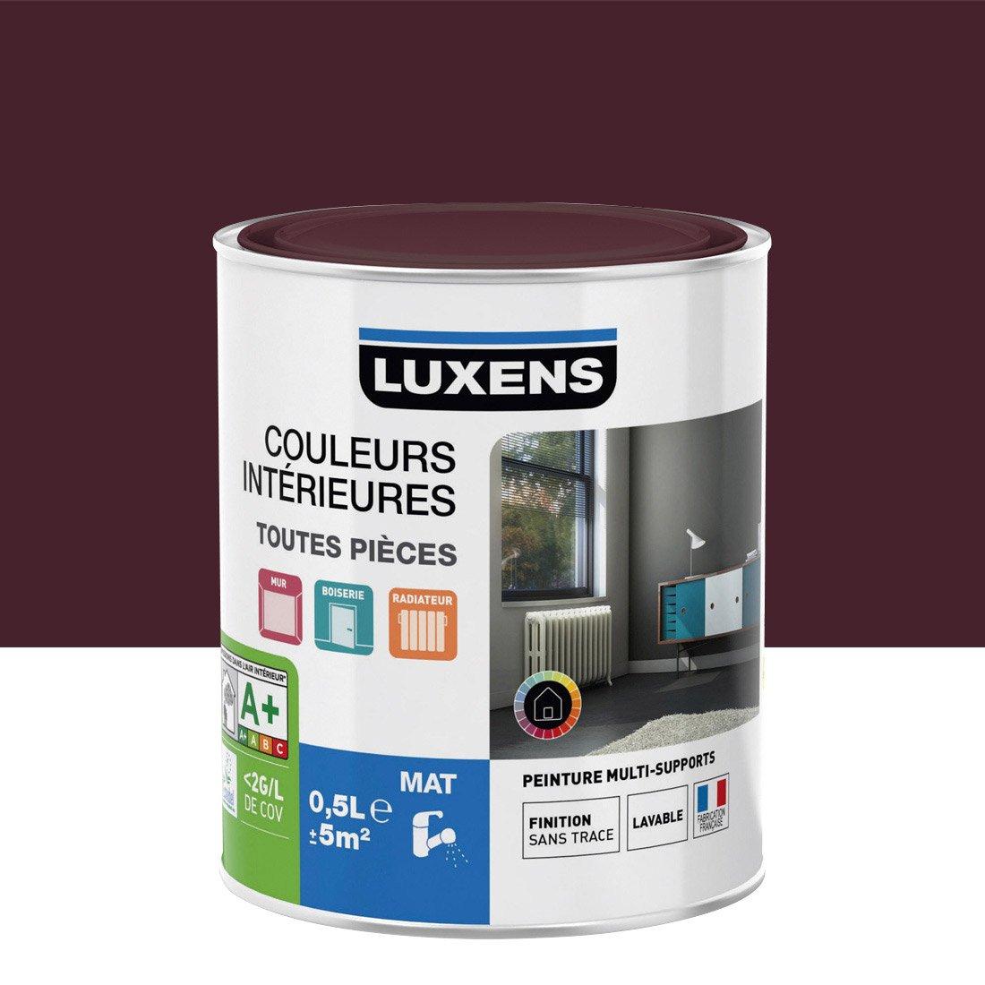 peinture rouge gourmand 1 mat luxens couleurs intrieures mat 05 l