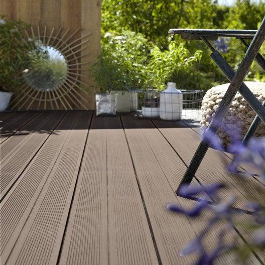 planche composite grafik 2 taupe x cm x mm leroy merlin. Black Bedroom Furniture Sets. Home Design Ideas