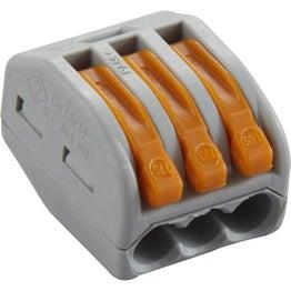 Lot de 50 bornes automatiques à levier, 2.5 mm², 3 entrées rigide et souple WAGO