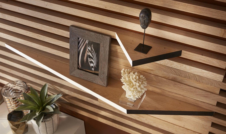 un mur complet de rangement leroy merlin. Black Bedroom Furniture Sets. Home Design Ideas