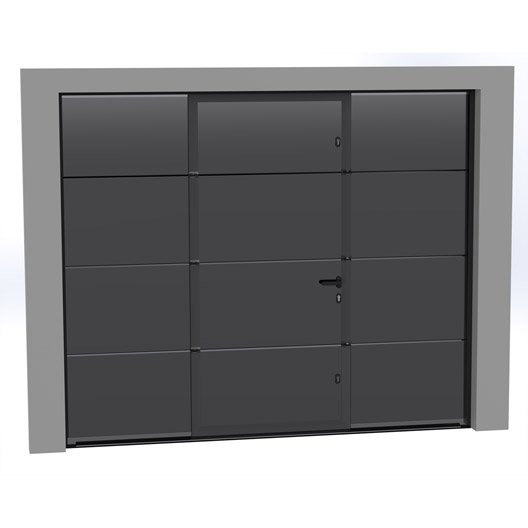 Porte de garage sectionnelle motoris e artens essentiel for Porte de garage sectionnelle 250 x 200