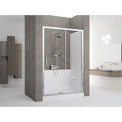 Kit de remplacement baignoire par douche en niche 70X140 cm, Elyt evolution 2.0