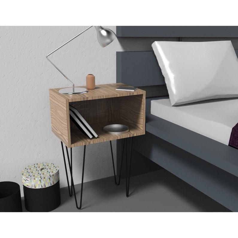 Pied De Table Basse Design Fixe Acier Epoxy Noir 40 Cm Leroy Merlin