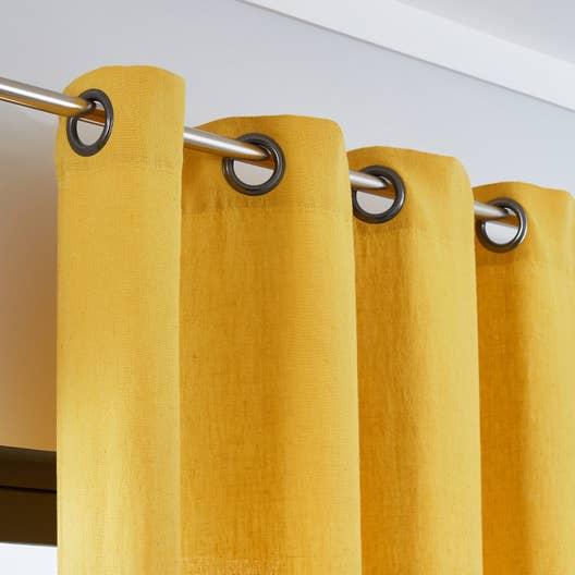 rideau tamisant solenzara jaune curry x cm. Black Bedroom Furniture Sets. Home Design Ideas