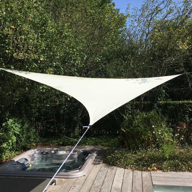 Voile d\'ombrage triangulaire écru L.360 x l.360 cm