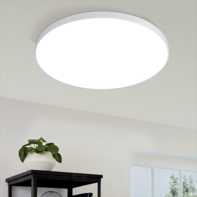 Plafonnier Design Aluminium Blanc Led Integree Eglo Acces D 59 5