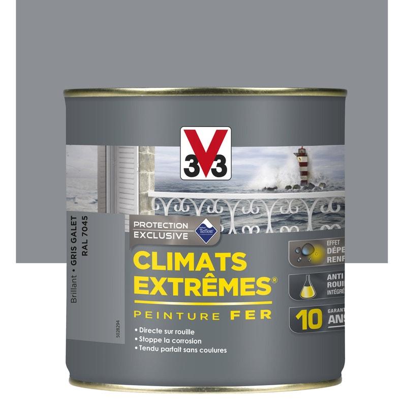 Peinture Fer Extérieur Climats Extrêmes V33 Gris Galet 05 L