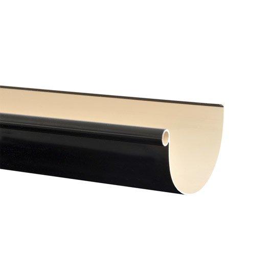 gouttière demi-ronde pvc girpi dév.25 cm noir l.4 m | leroy merlin