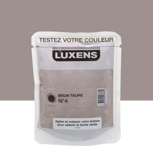 Testeur peinture brun taupe 4 luxens couleurs int rieures satin l leroy merlin - 2eme couche de peinture sans trace ...