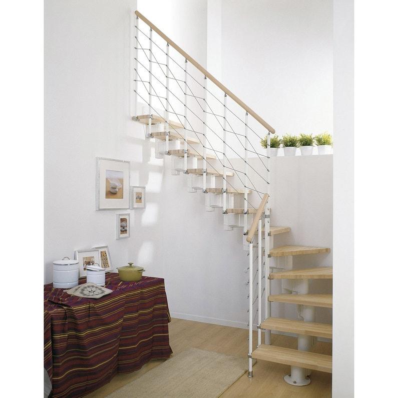 Escalier Modulaire Long Structure Metal Marche Bois Leroy Merlin