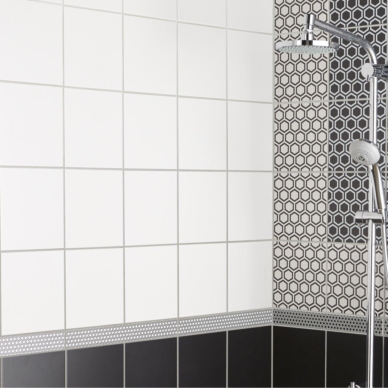Carrelage mur forte blanc-blanc n°0 mat l.20 x L.20 cm, Astuce