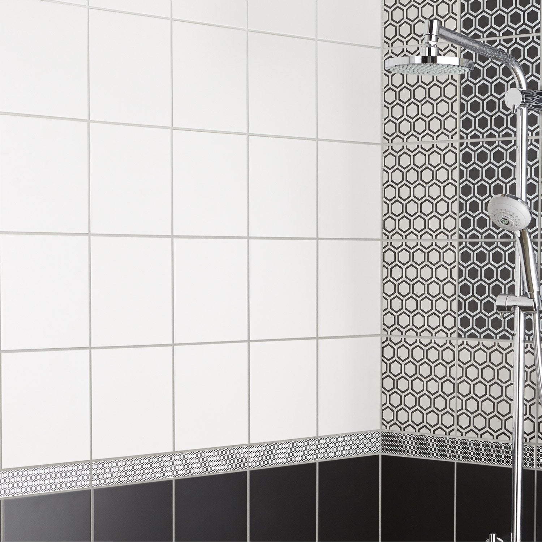 Faïence mur blanc mat, Astuce l.20 x L.20 cm | Leroy Merlin