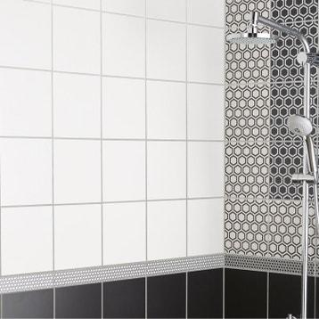 faence mur blanc mat astuce l20 x l20 cm